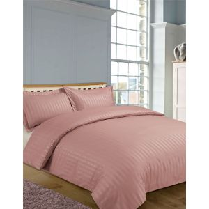 Hotel Stripe 4pc Complete Set with Sheet - Dusty Pink