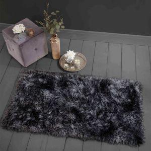 Sienna Luxurious Extra Shaggy Rug 9cm Pile - Charcoal Grey