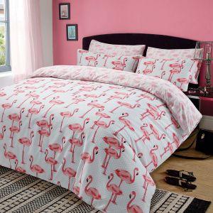 Flamingo Duvet Cover Set - Pink