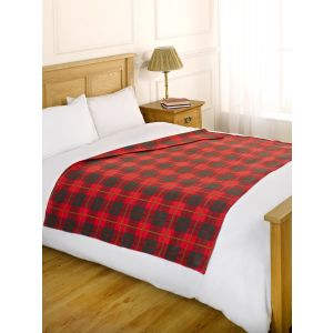 Fleece Blanket 120x150cm - Check Red