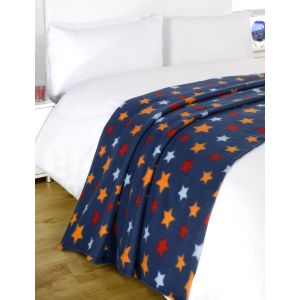 120X150Cm Printed Fleece Throw Star
