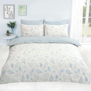 Dreamscene Paisley Floral Duvet Cover Set - Blue