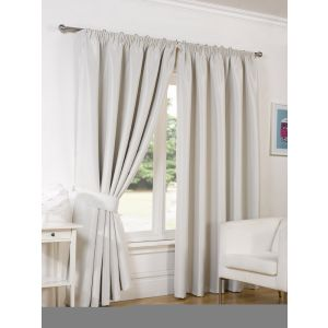 Faux Silk Blackout Curtains - Natural