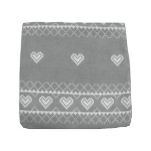 125X150 Print Fleece Throw Nordic Grey