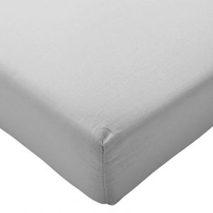 Brushed Cotton Fitted Sheet - Grey