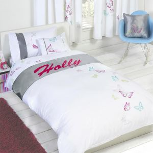 Holly - Personalised Butterfly Duvet Cover Set