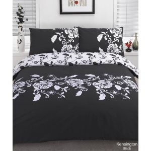 Kensington Duvet Cover Set - Black