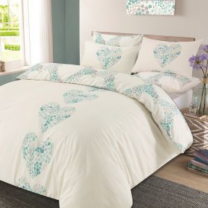 Lizzie Duvet Cover Set - Duck Egg