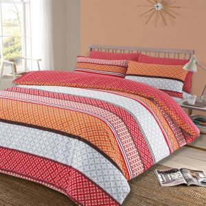 Lola Duvet Cover Set - Spice Red