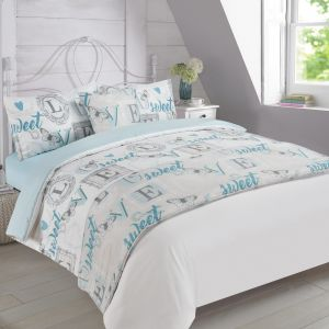 Complete Bed in a Bag Love Sweet Love Butterfly - Blue