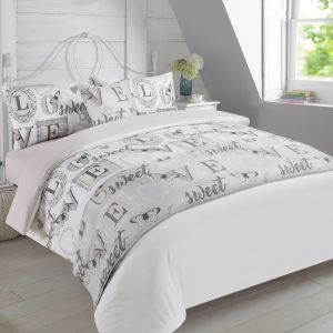 Complete Bed in a Bag Love Sweet Love Butterfly - Grey