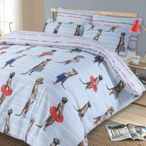 Meerkat Duvet Cover Set - Blue
