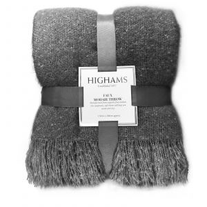 Highams Mohair Throw, Charcoal Grey - 150 x 200cm