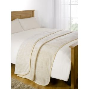 Arctic Mink Throw Cream