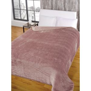 Faux Fur Mink Throw - Heather