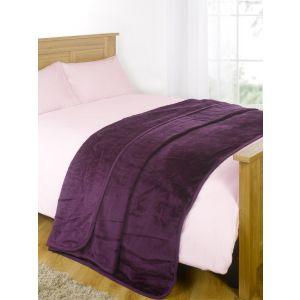 Faux Fur Mink Throw - Purple