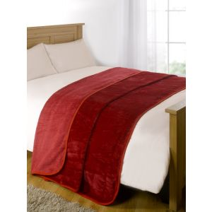 Faux Fur Mink Throw - Red
