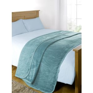 Arctic Mink Throw Teal