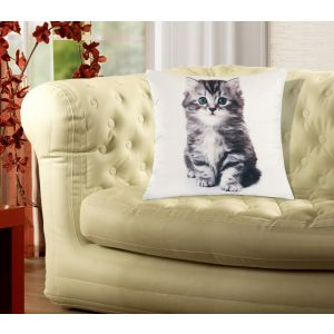 Soft Animal Cushion Cover 45 x 45cm Unfilled - Kitten