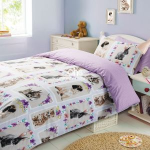 Pet Love Duvet Cover Set - Lilac White