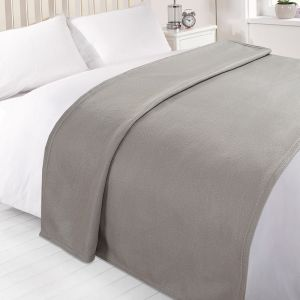 Dover Plain Fleece Throw Silver