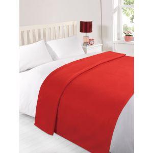 Fleece Blanket 120x150cm - Red