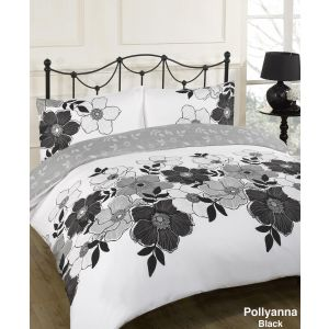 Pollyanna Duvet Cover Set - Black