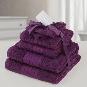 Towel Bale 6 Piece - Purple