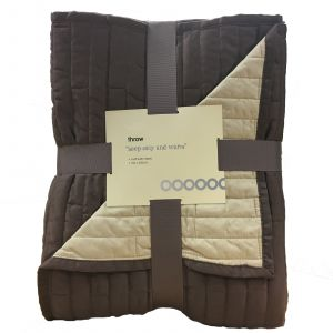 Luxury Super Soft Matt/Satin Fleece Throw Blanket 150x200cm - Chocolate/Caramel