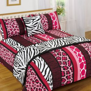 Dreamscene Serengeti Bed in a Bag Bedding Set - Pink