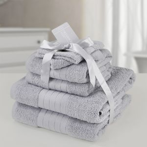 6pc 500gsm Towel Bale - Silver