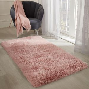 Sienna Fluffy Rug - Blush Pink