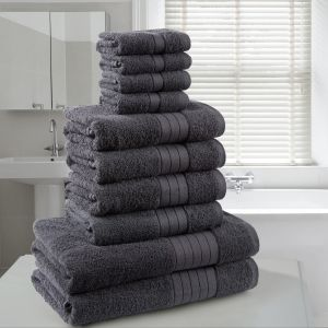 Brentfords Towel Bale 10 Piece - Charcoal