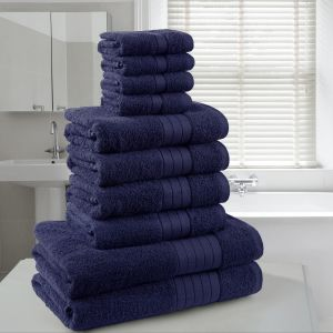 Brentfords Towel Bale 10 Piece - Navy