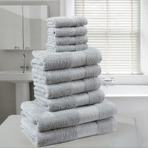Brentfords Towel Bale 10 Piece - Silver
