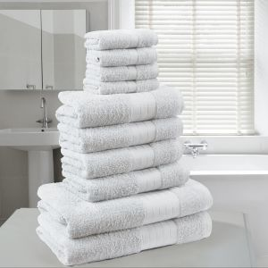 Brentfords Towel Bale 10 Piece - White