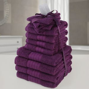 Brentfords Towel Bale 12 Piece - Purple