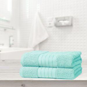 Luxury 100% Cotton 2 Jumbo Bath Sheets Large Towels Bale - Aqua