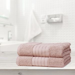 Brentfords 2 Jumbo Bath Sheets - Blush Pink