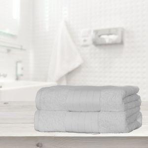 Dreamscene 2 Large Jumbo Bath Sheets - White