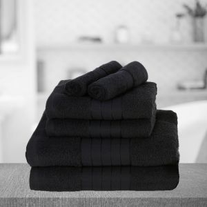 Brentfords Towel Bale 6 Piece - Black