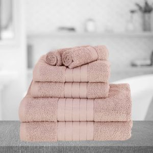 Brentfords Towel Bale 6 Piece - Blush Pink