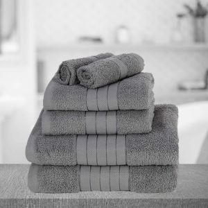 Brentfords Towel Bale 6 Piece - Grey