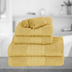 Brentfords Towel Bale 6 Piece - Mustard Ochre Yellow