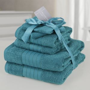 6pc 500gsm Towel Bale - Teal