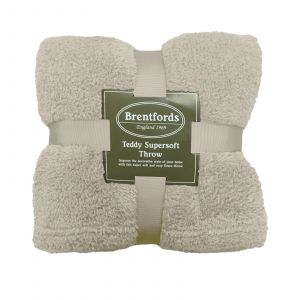 Teddy Fleece Throw Cream