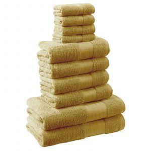 10pc 500gsm Cotton Towel Bale - Ochre Yellow
