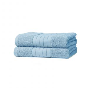 Luxury 100% Cotton 2 Jumbo Bath Sheets Large Towels Bale - Aqua