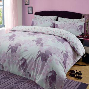 Dreamscene Unicorn Dreams Duvet Cover Set Pink