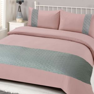 Brentfords Pinsonic Duvet Set - Blush